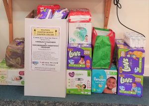 Diaper Drive Collection Box Overflows
